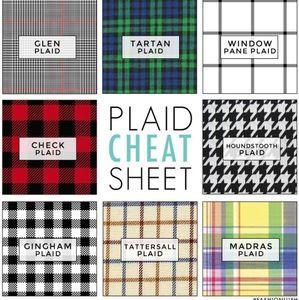 plaid cheat sheet